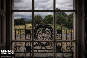 Kinmel Hall - Ironwork through window
