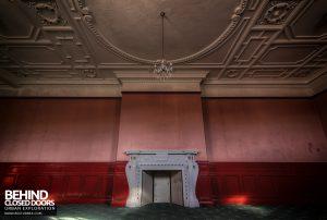Kinmel Hall - Red room fireplace