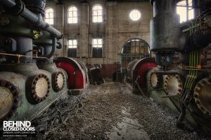 Grimsby Ice Factory - Between the compressors