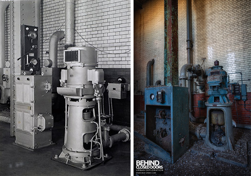 Grimsby Ice Factory Now and Then - Pump and electrical gear