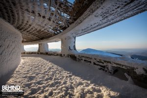 Buzludzha - Amazing views through the huge windows