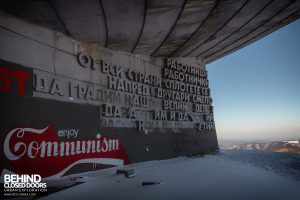 Buzludzha - Writing on the building