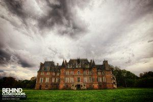 Château Japonais, France - External under foreboding sky