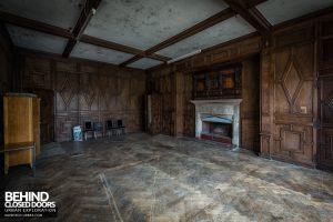 Carmel College - Ornate wood room