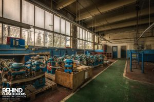 British Celanese, Spondon - Room full of pumps