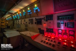 British Celanese, Spondon - Colourful lights in control room