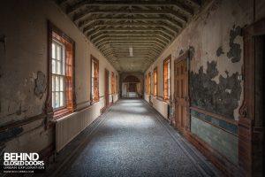 High Royds Asylum - Corridor with bars