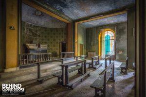 Mono Orphanage, Italy - Seats in chapel
