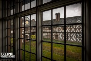 Pitchford Hall - View out of window