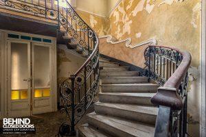 Villa Margherita, Italy - Staircase detail