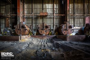 CSGD Steel Works, Belgium - Line of ladles