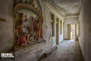 Monastero MG, Italy - Depiction in hallway