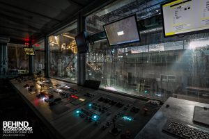 S.M. Steel Works, Belgium - Rolling mill control room