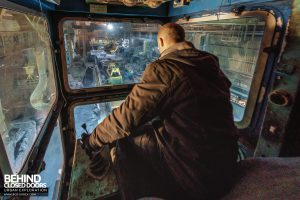 Thamesteel Sheerness - Selfie in the crane