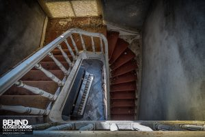 Manoir DP, Belgium - View down stairs