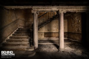 Sheffield Old Town Hall and Crown Courts - Decaying staircase