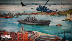 Royal Haslar Hospital - Mural showing the Haslar Peninsula