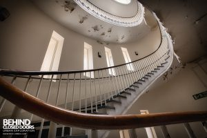 Royal Haslar Hospital - Looking up the spiral
