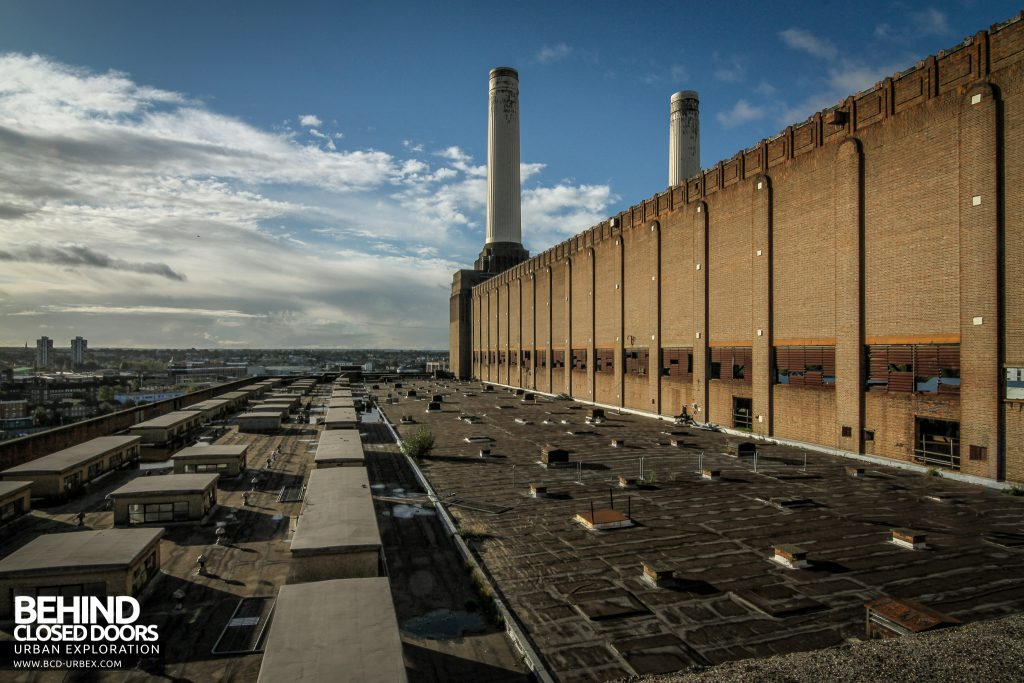Battersea Power Station - The iconic chimneys from the roof