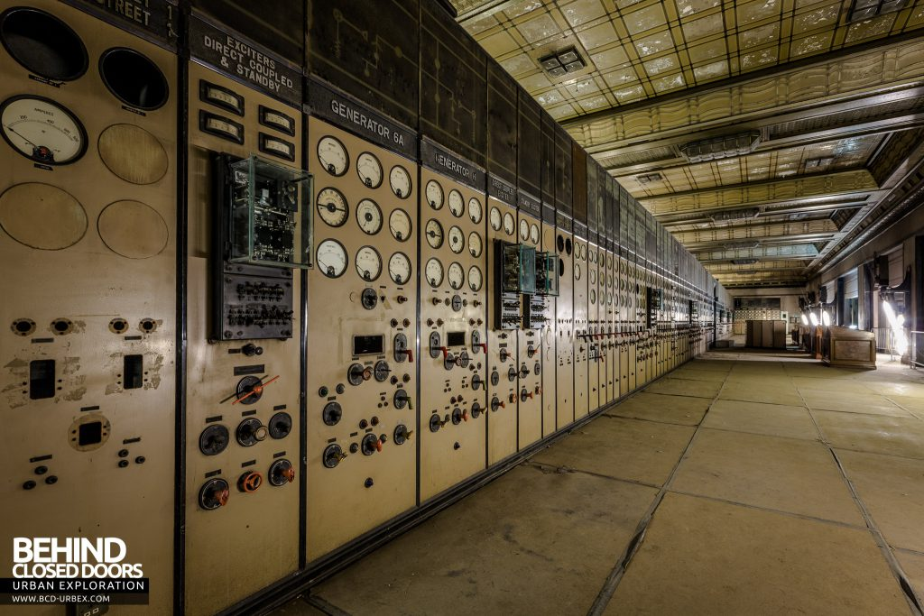 Battersea Power Station - The huge A-Side Control Room