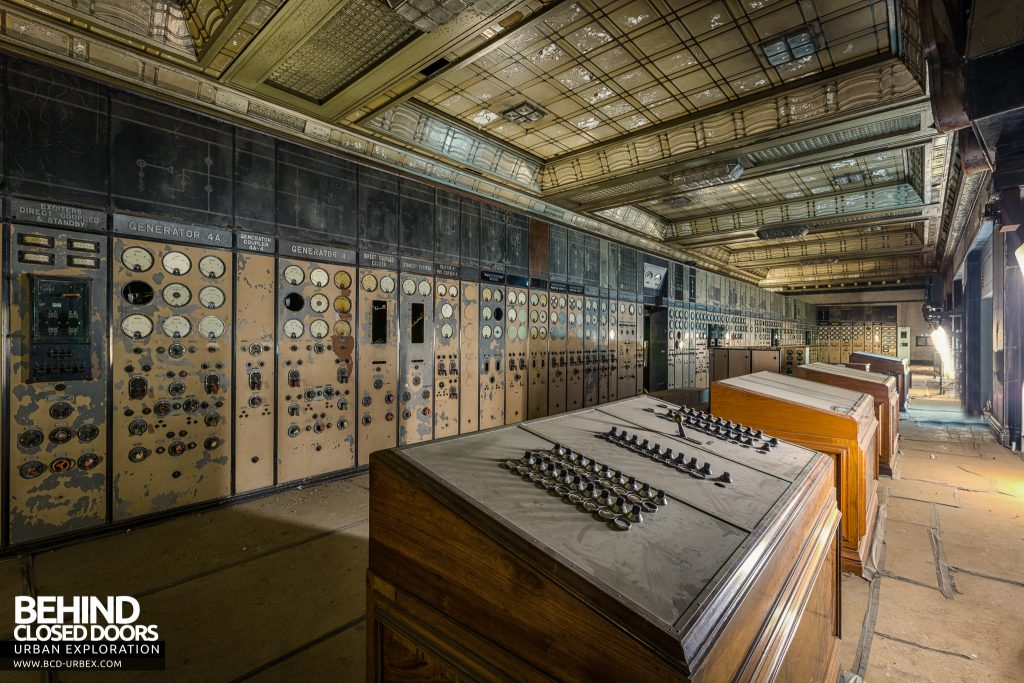 Battersea Power Station - Control desks in the Art Deco Control Room A