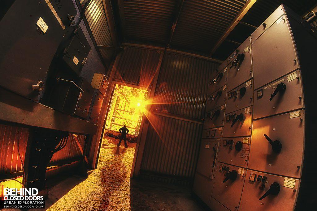 Soda Ash Works - Man outside Control Room
