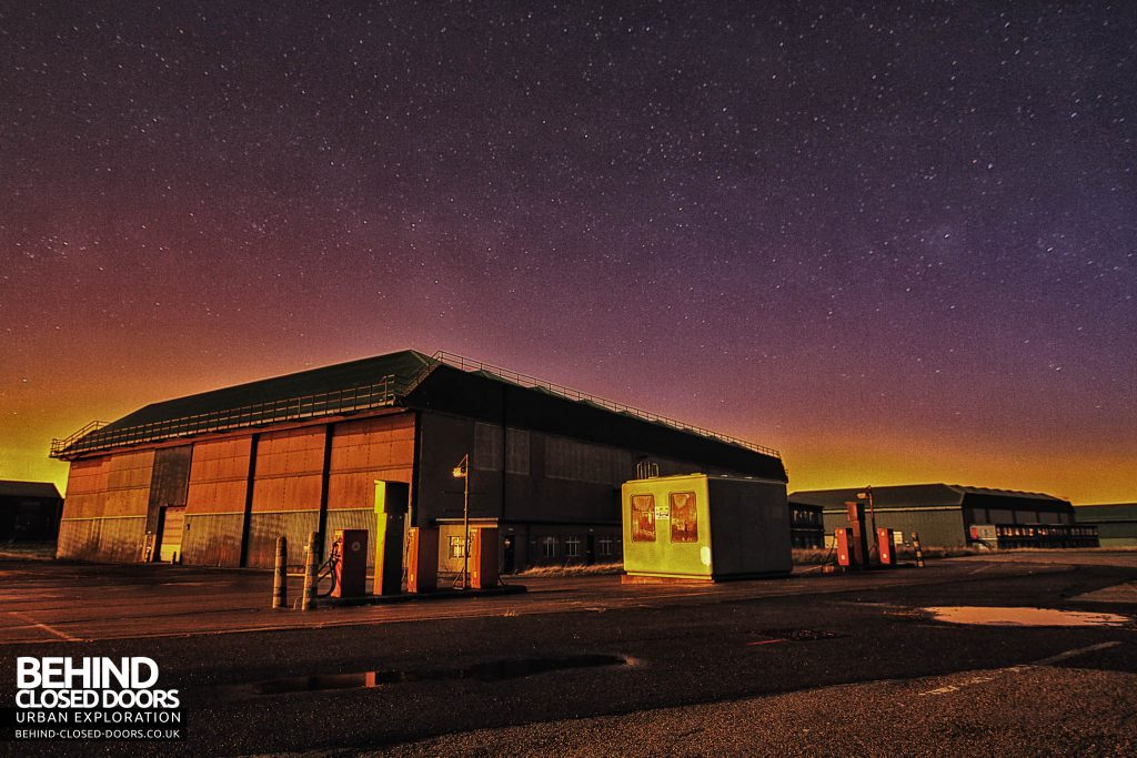 RAF Kirton Lindsey - Petrol Station at Night