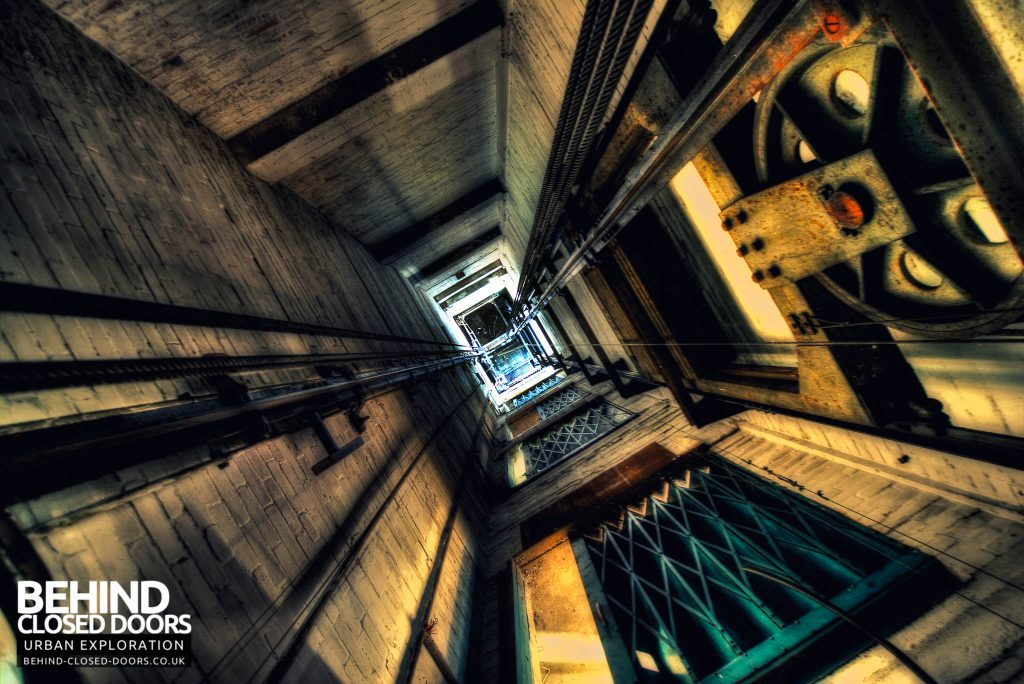 Cannon Brewery - Looking Down the Lift Shaft