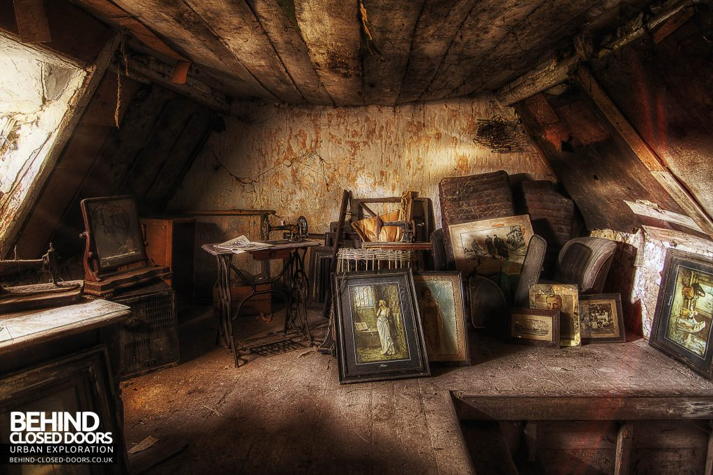 The Sewing House - Attic full of items