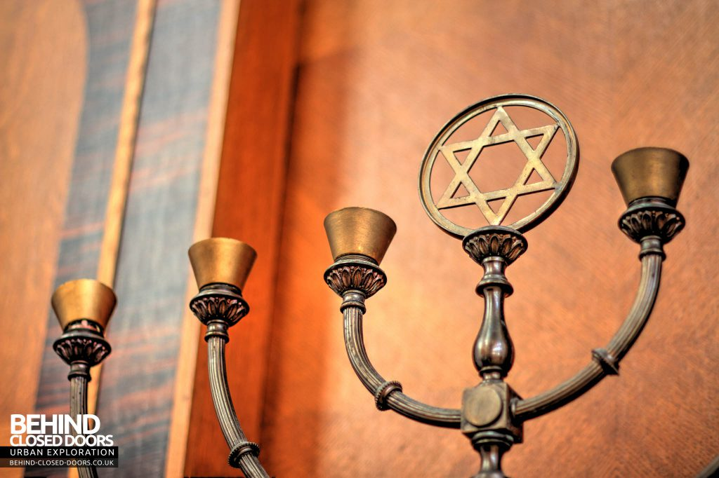 Greenbank Synagogue - Candle holder detail
