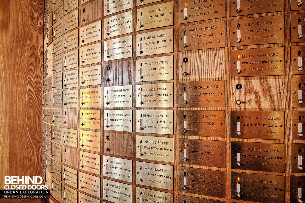 Greenbank Synagogue - Memorial plaques