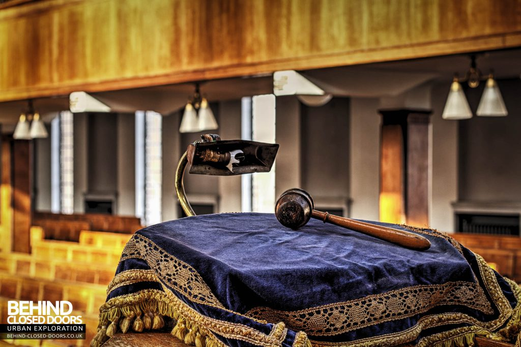 Greenbank Synagogue - Reading stand with gavel