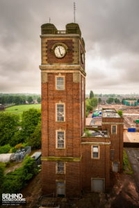 Terry's Chocolate Works, York - The clock tower as seen from the factory roof