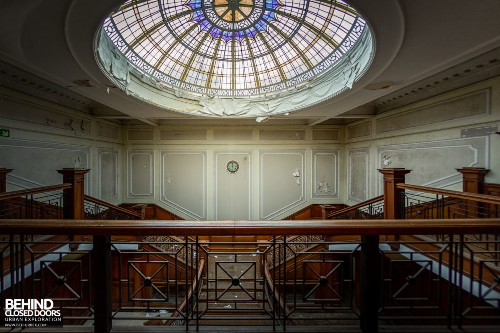 Terry's Chocolate Works, York - Glass dome skylight above the entrance foyer