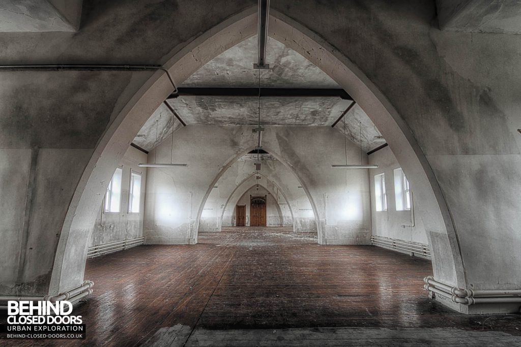 St Joseph's Seminary Upholland - Arched dorm room
