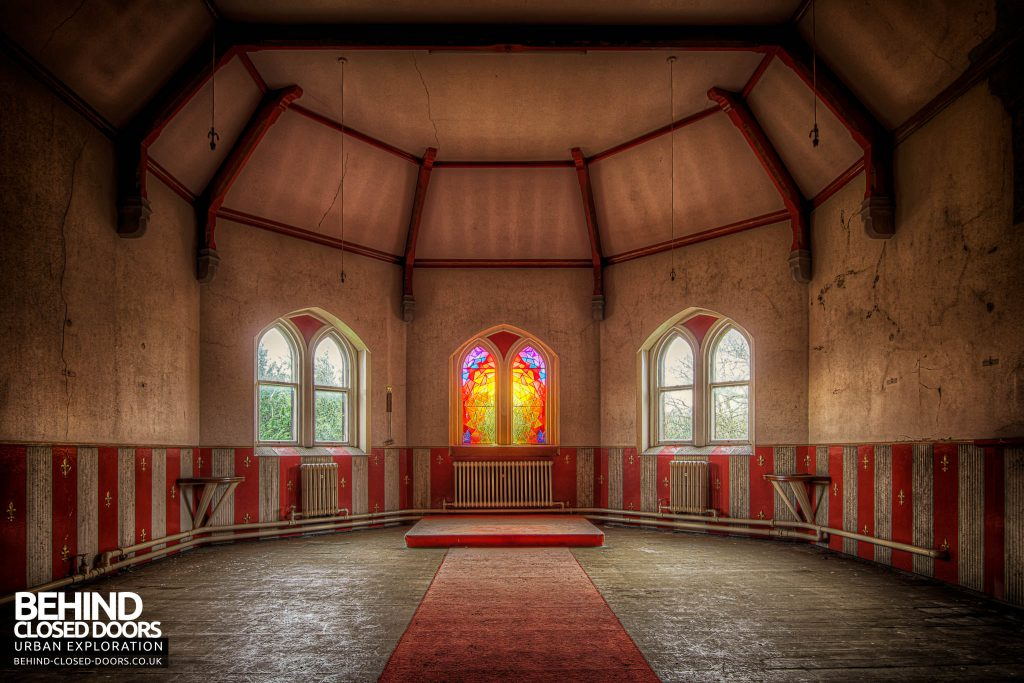 St Joseph's Seminary Upholland - Inside the red chapel