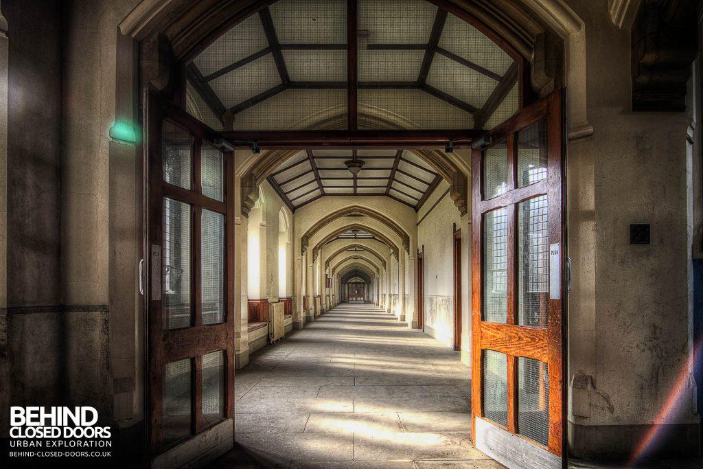 St Joseph's Seminary Upholland - Corridor through the doors