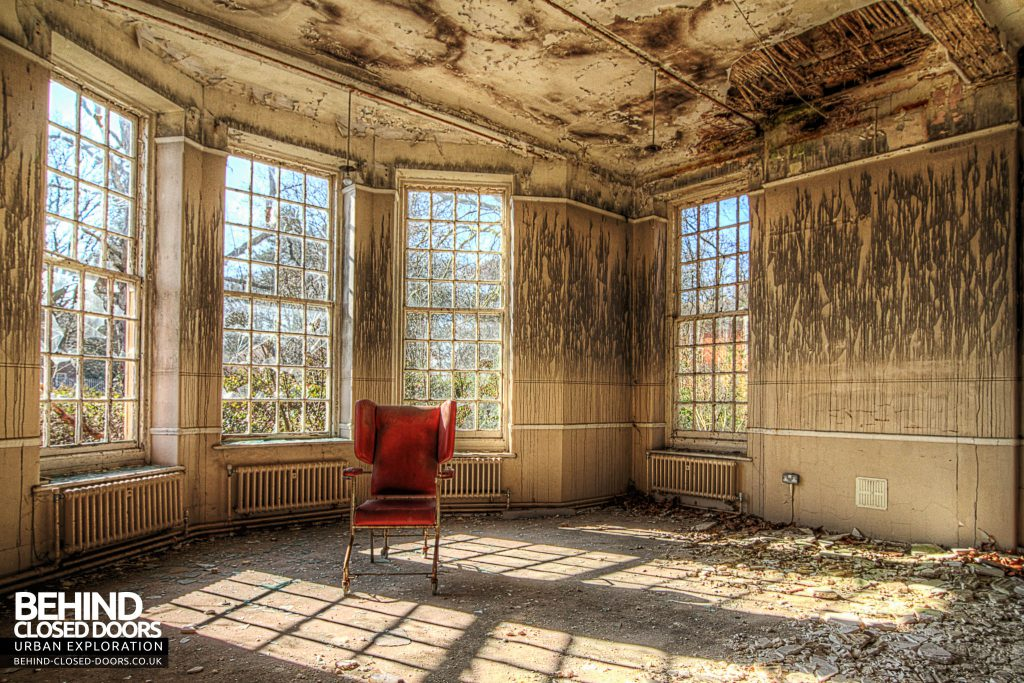 Severalls Hospital - Red Chair in Bay Window