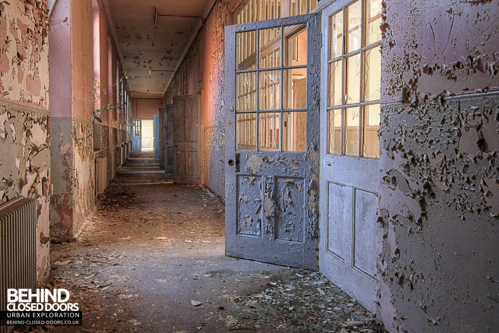 Severalls Hospital - Pink and Blue Corridor