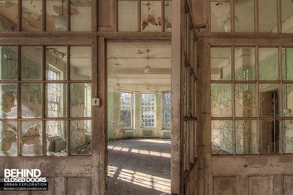 Severalls Hospital - Door in Glass Wall