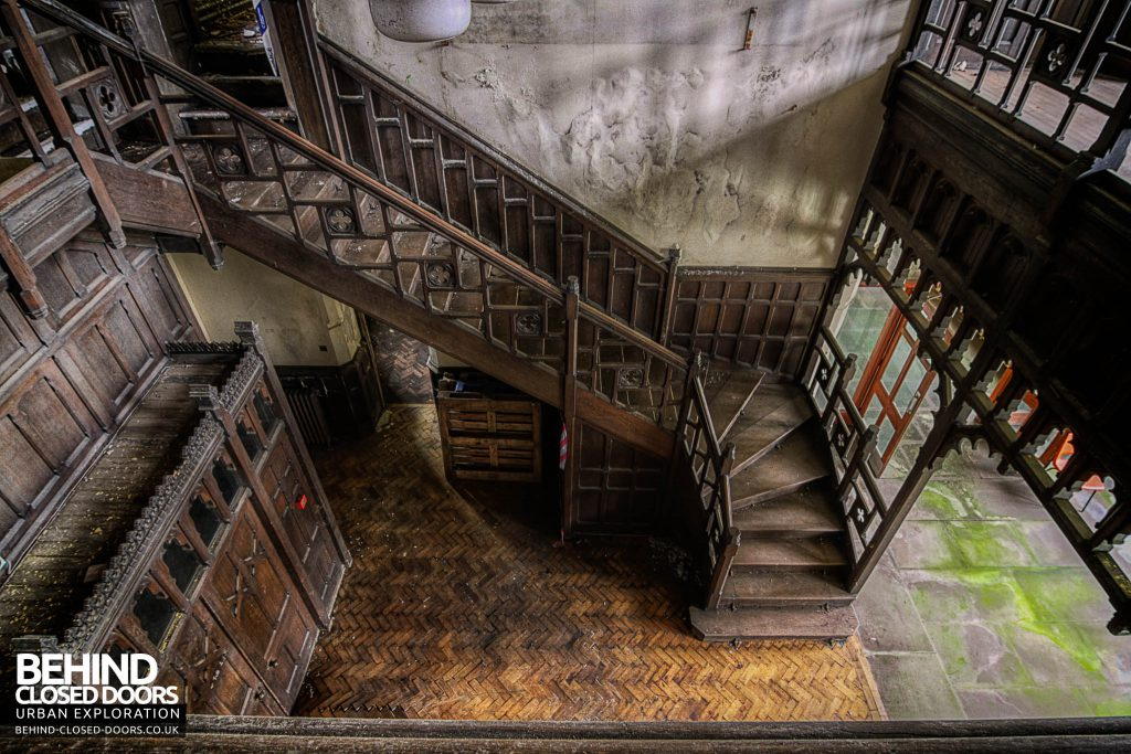 St Joseph's Seminary Upholland - Staircase in main entrance