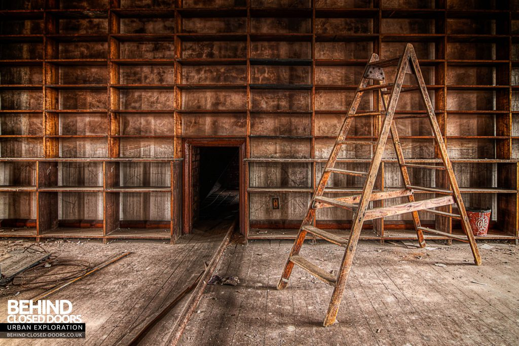 St Joseph's Seminary Upholland - Ladder in the library