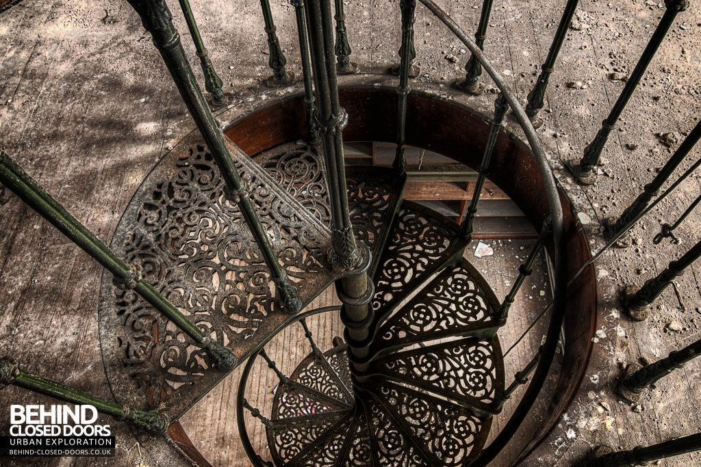 St Joseph's Seminary Upholland - View down the spiral staircase