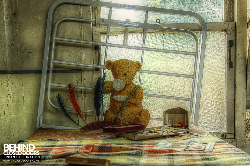 St Gerard's TB Hospital - Teddy on a Bed