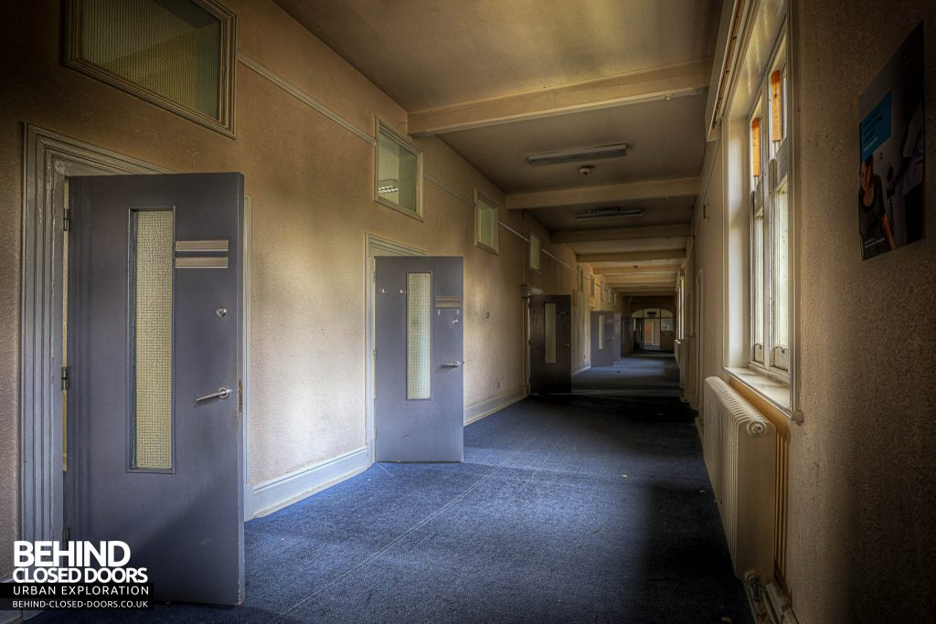 Shelton Asylum - Rooms off one of the original corridors