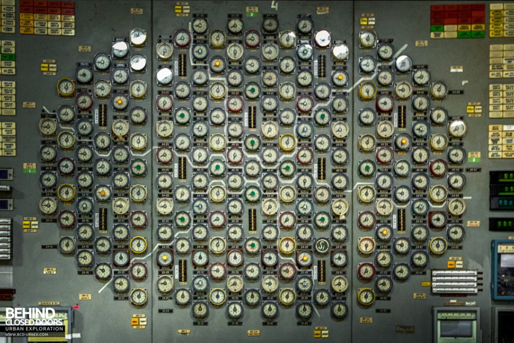 Chernobyl Power Plant - Control Room 3 rod indicator panel