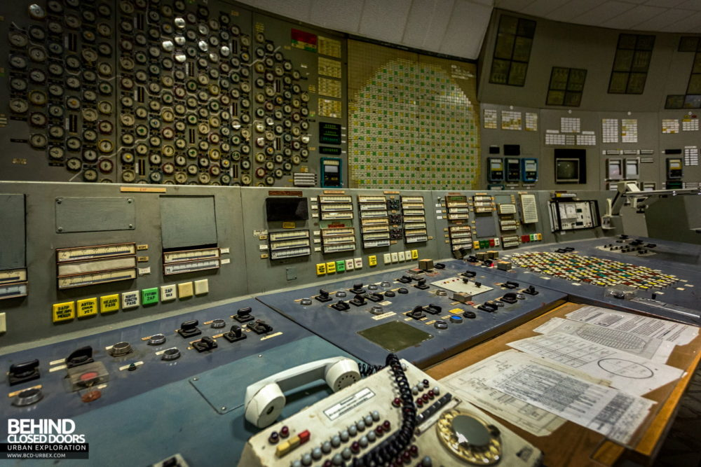 Chernobyl Power Plant - Control Room 3 closer view of control desk