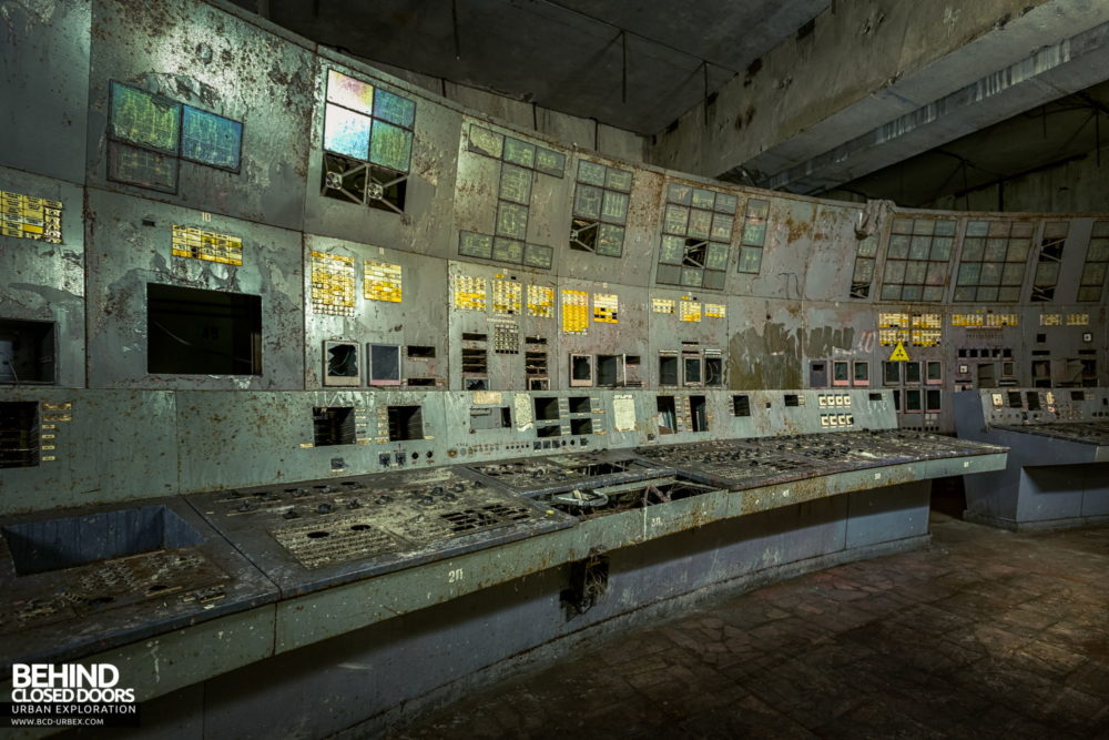 Chernobyl Power Plant - Panels in Unit 4's Control Room