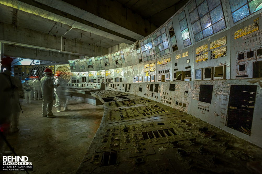 Chernobyl Power Plant - Panels in Control Room 4