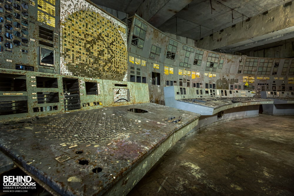 Chernobyl Power Plant - Control Room 4 Reactor Panels